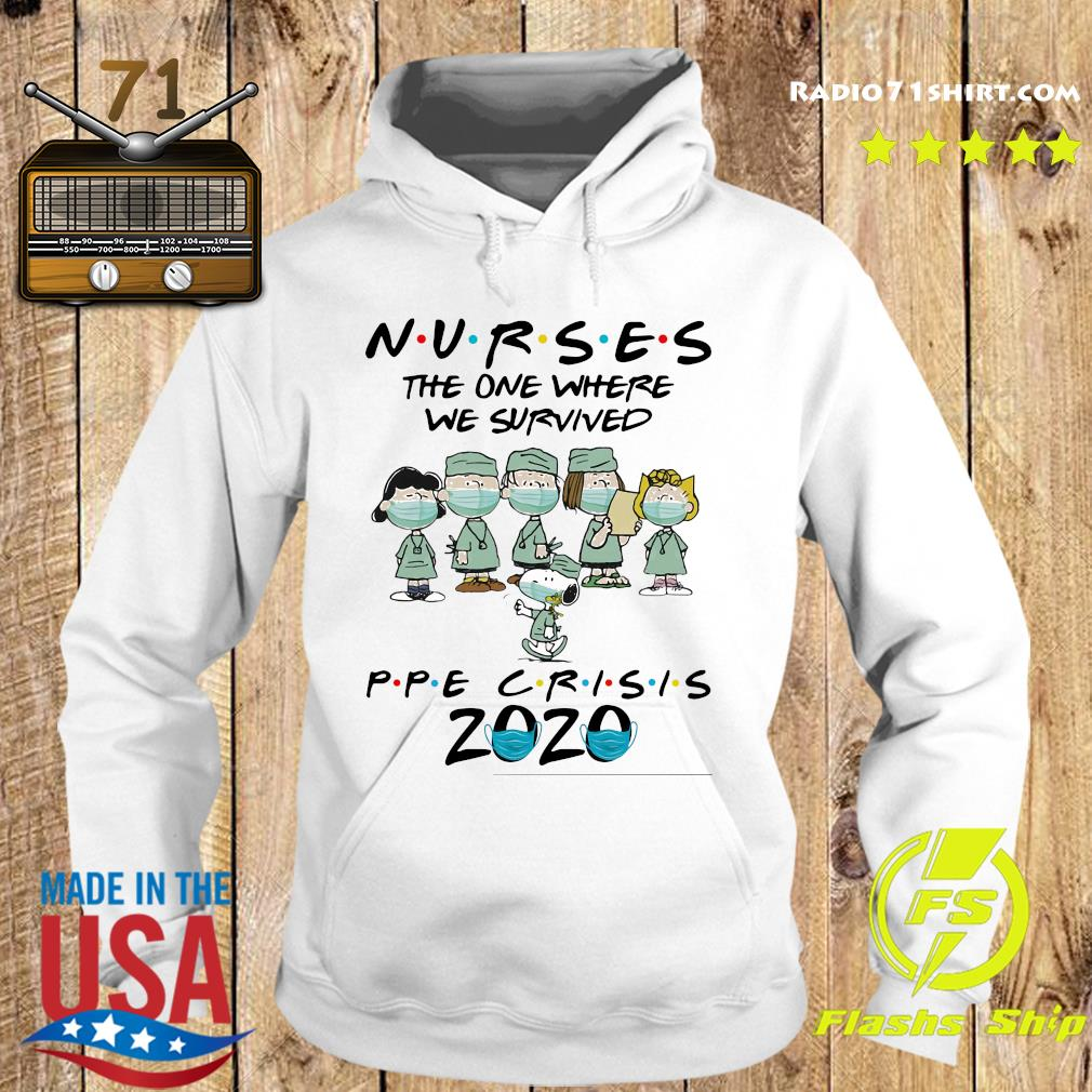 Peanuts Nurses The One Where We Survived Ppe Crisis 2020 Shirt Hoodie