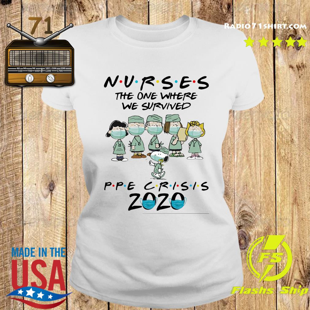 Peanuts Nurses The One Where We Survived Ppe Crisis 2020 Shirt Ladies tee