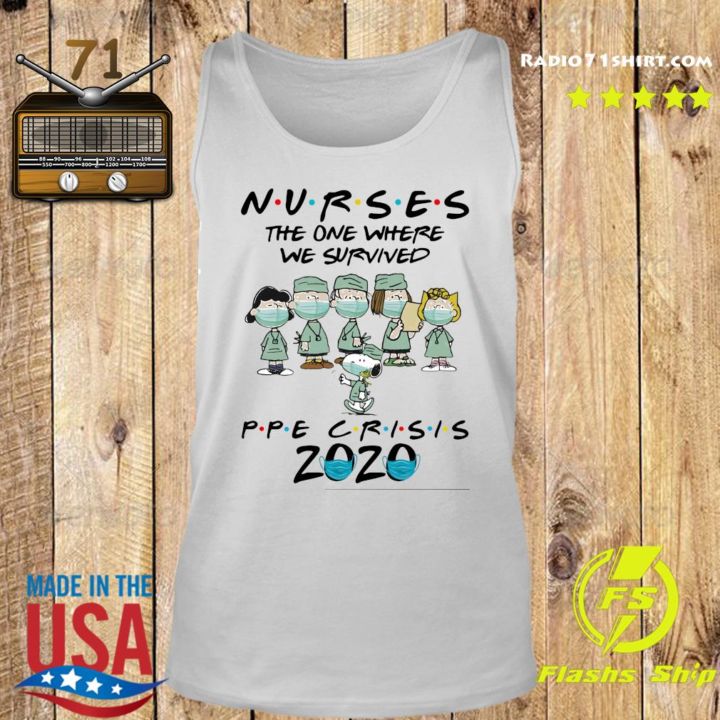Peanuts Nurses The One Where We Survived Ppe Crisis 2020 Shirt Tank top