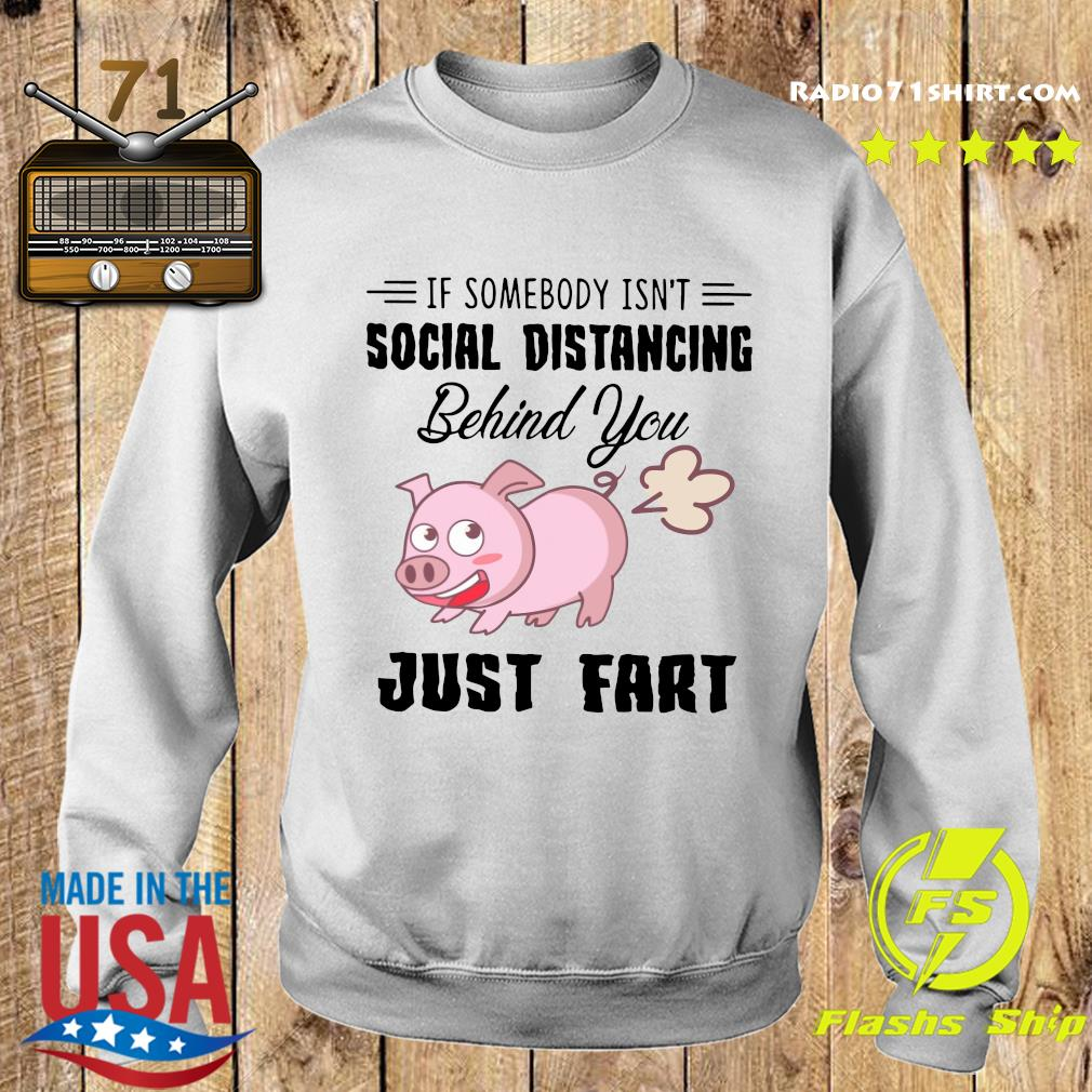 Pig If Somebody Isn't Social Distancing Behind You Just Fart Shirt Sweater