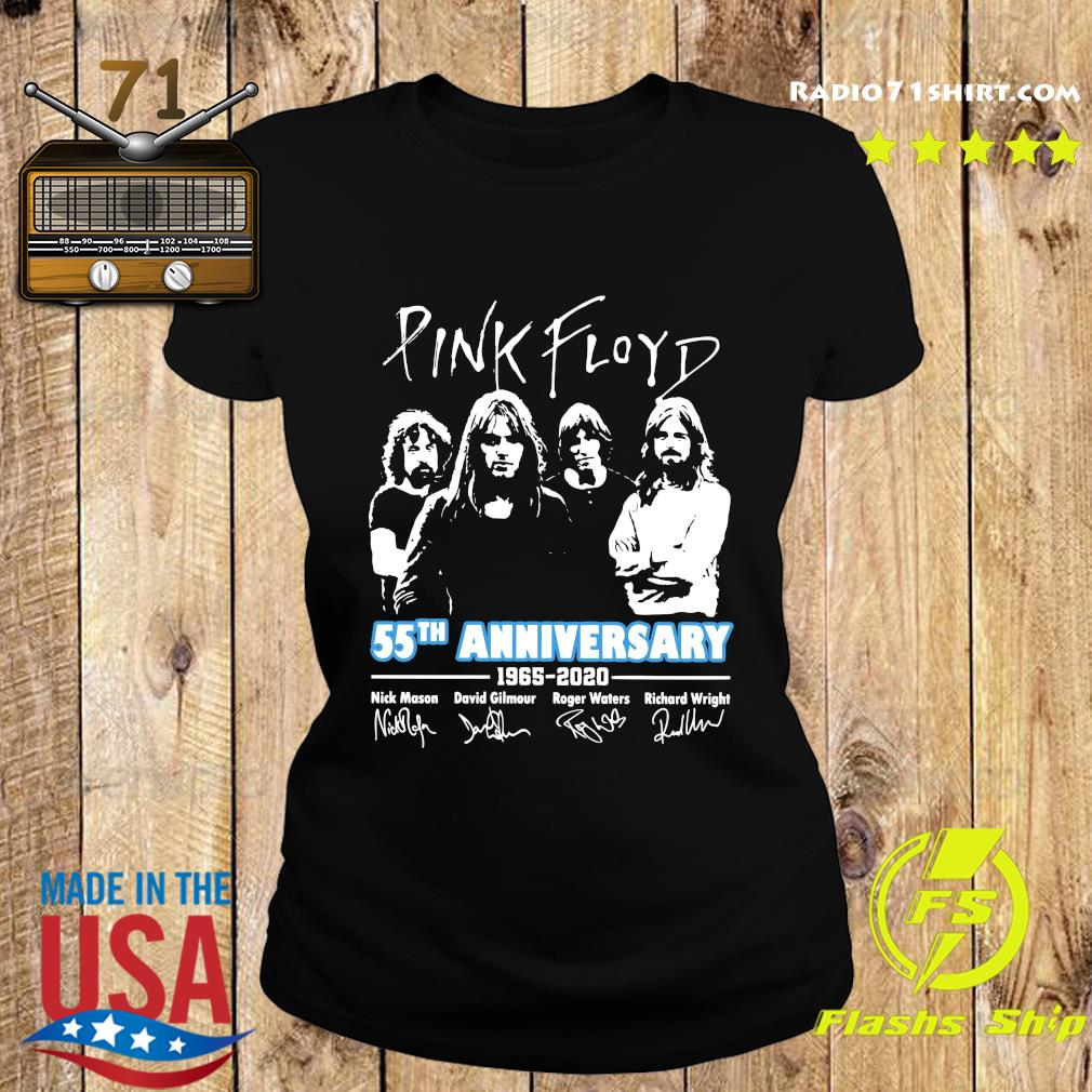 Pink Floyd 55th Anniversary 1965 2020 Signatures Shirt Ladies tee