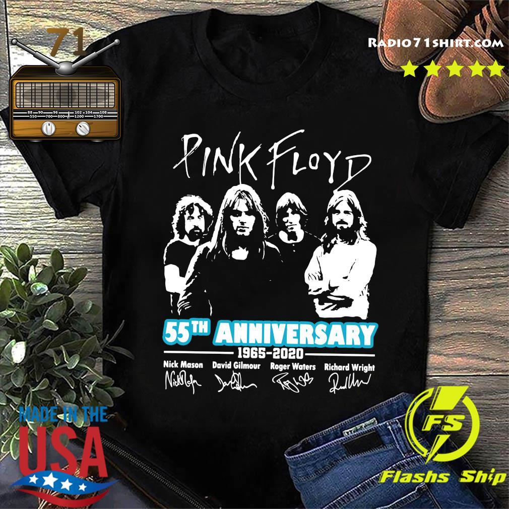 Pink Floyd 55th Anniversary 1965 2020 Signatures Shirt
