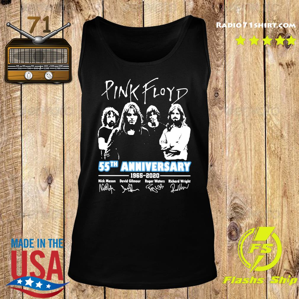 Pink Floyd 55th Anniversary 1965 2020 Signatures Shirt Tank top