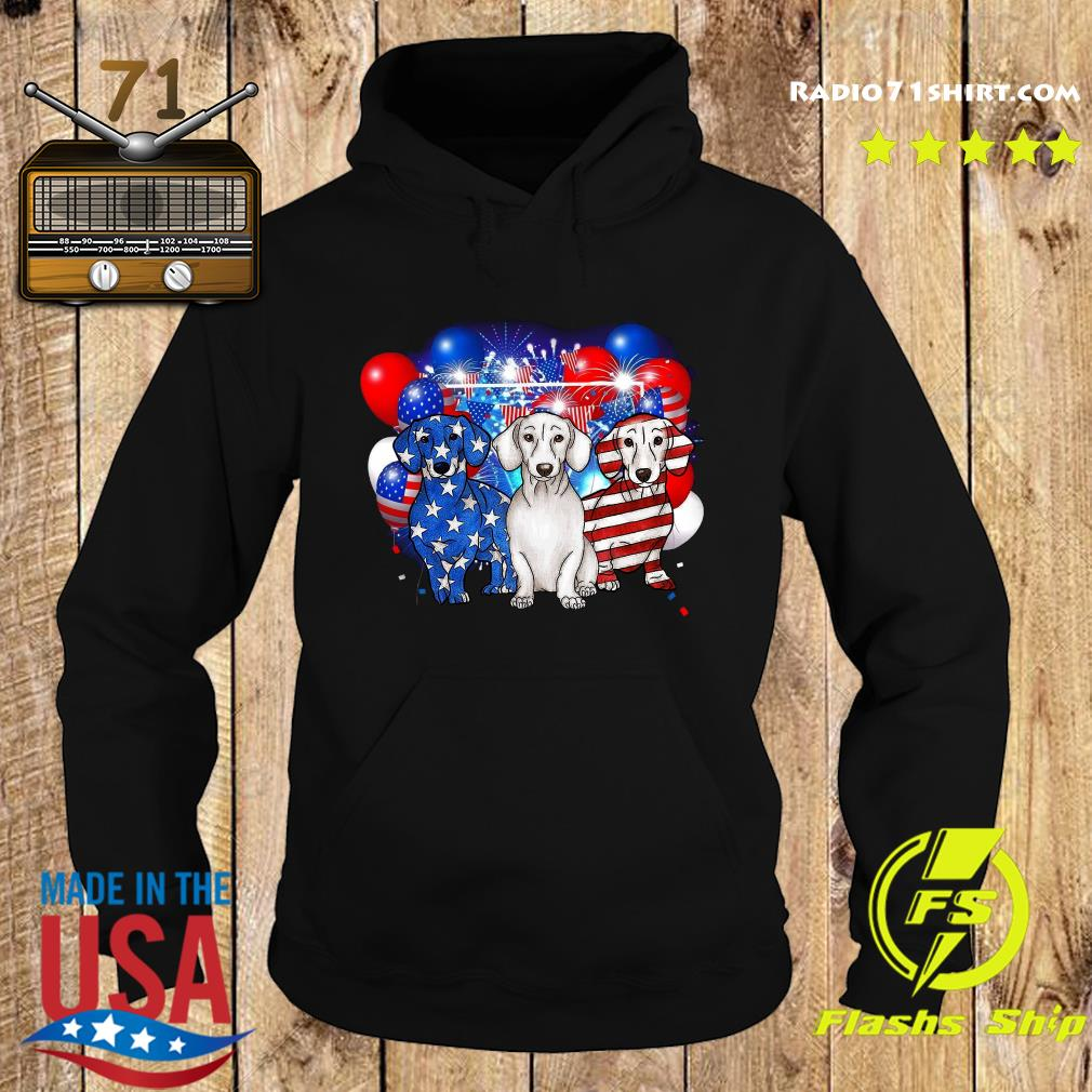Premium Firework Dachshund American Flag 4th Of July Independence Day Shirt Hoodie