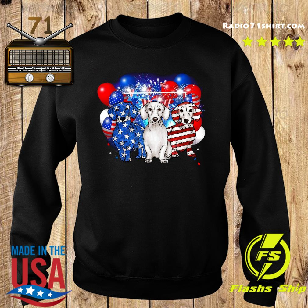 Premium Firework Dachshund American Flag 4th Of July Independence Day Shirt Sweater