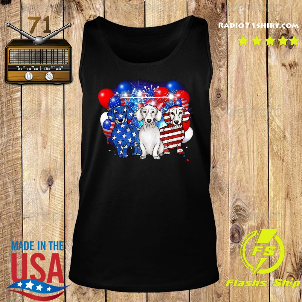 Premium Firework Dachshund American Flag 4th Of July Independence Day Shirt Tank top