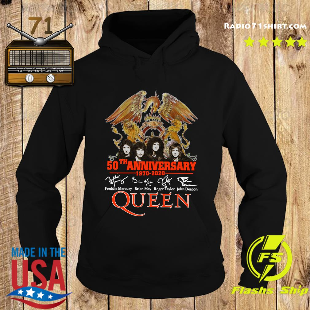 Pretty 50th Anniversary 1970 2020 Signatures Queen Shirt Hoodie