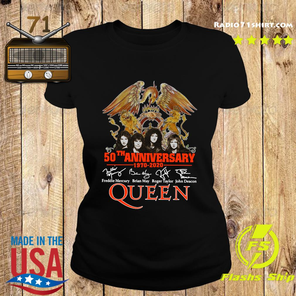 Pretty 50th Anniversary 1970 2020 Signatures Queen Shirt Ladies tee