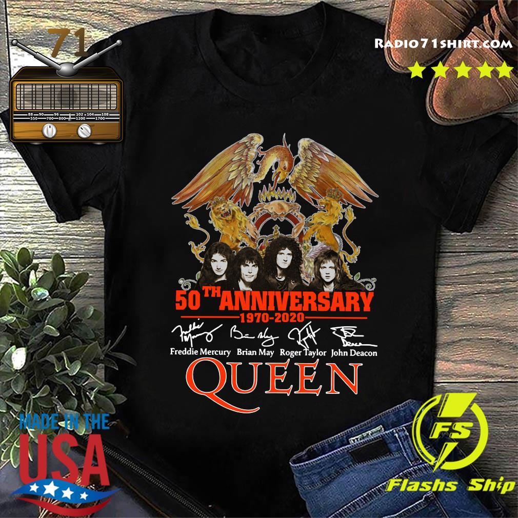 Pretty 50th Anniversary 1970 2020 Signatures Queen Shirt