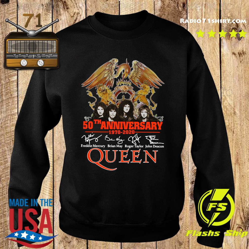 Pretty 50th Anniversary 1970 2020 Signatures Queen Shirt Sweater