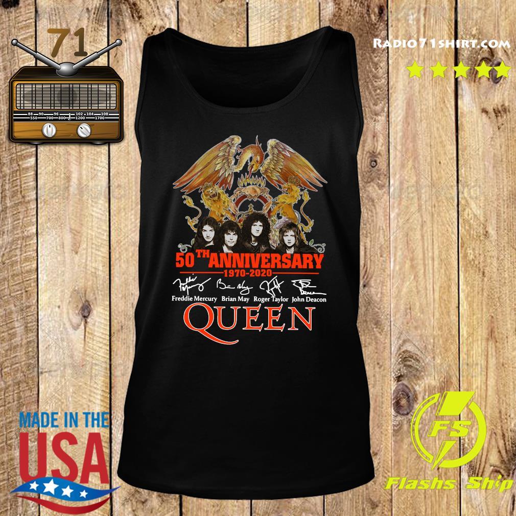 Pretty 50th Anniversary 1970 2020 Signatures Queen Shirt Tank top