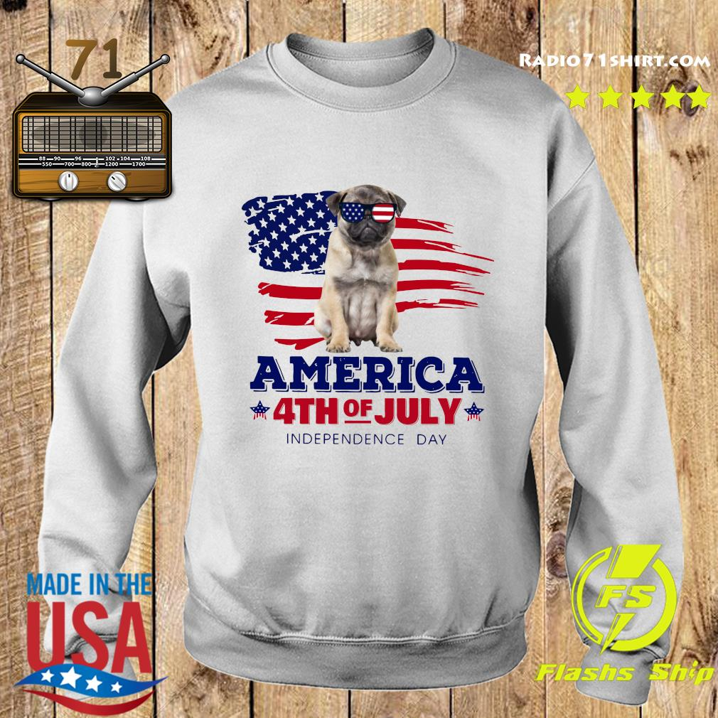 Pug America 4th Of July Independence Day Shirt Sweater