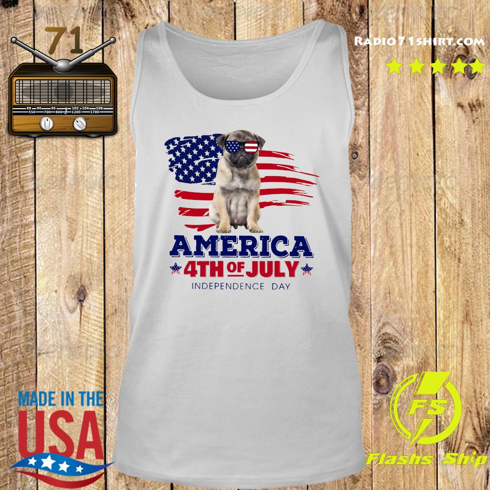 Pug America 4th Of July Independence Day Shirt Tank top