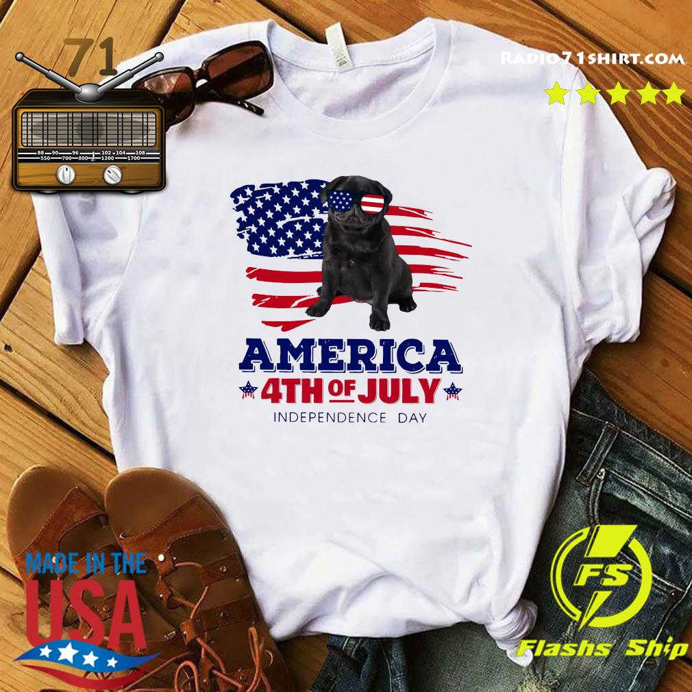 Pug Dog America 4th Of July Independence Day Shirt