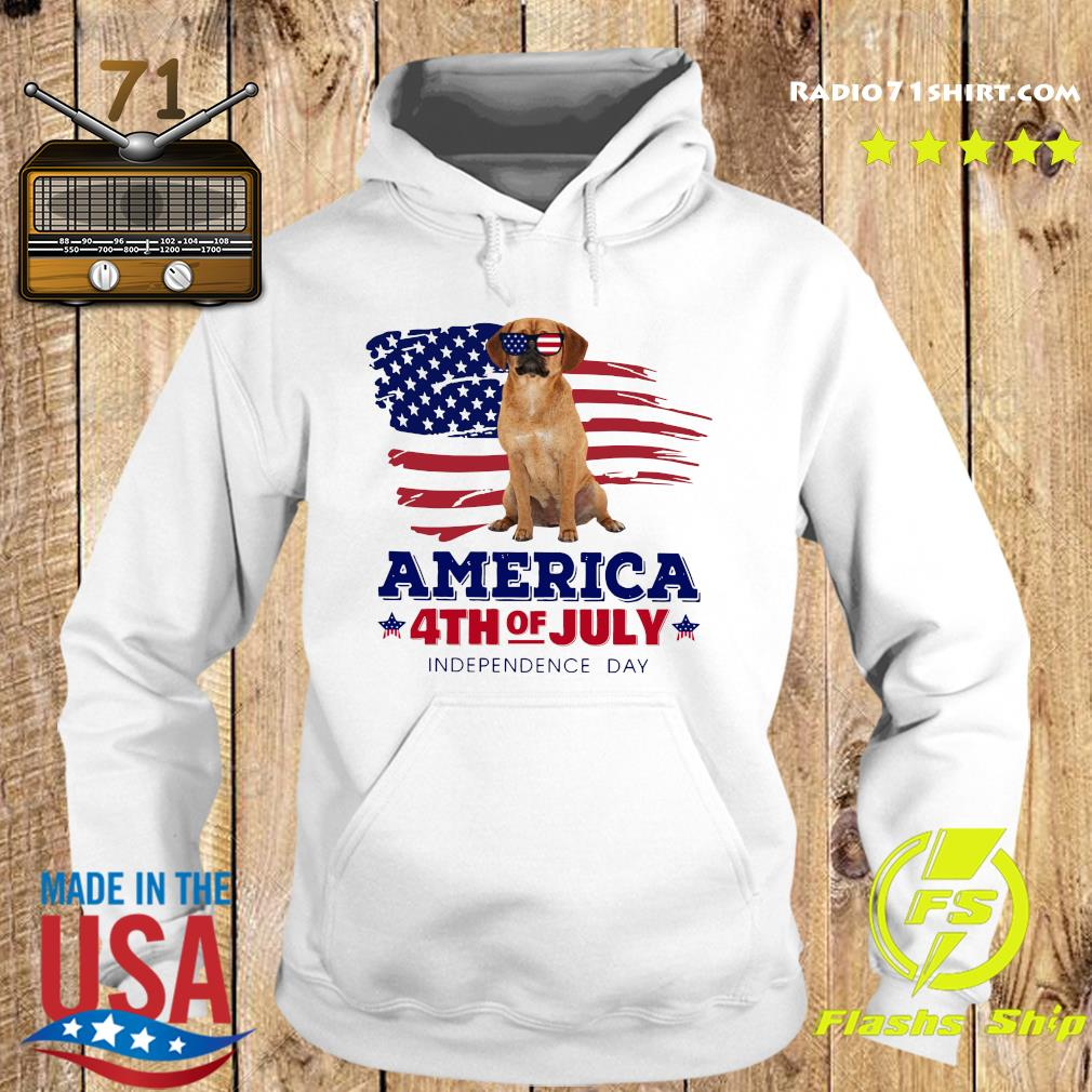 Puggle America 4th Of July Independence Day Shirt Hoodie