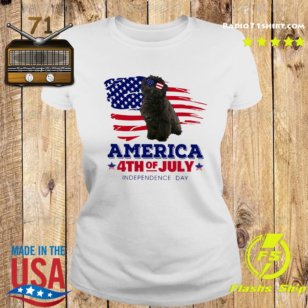 Puli Dog America 4th Of July Independence Day Shirt Ladies tee