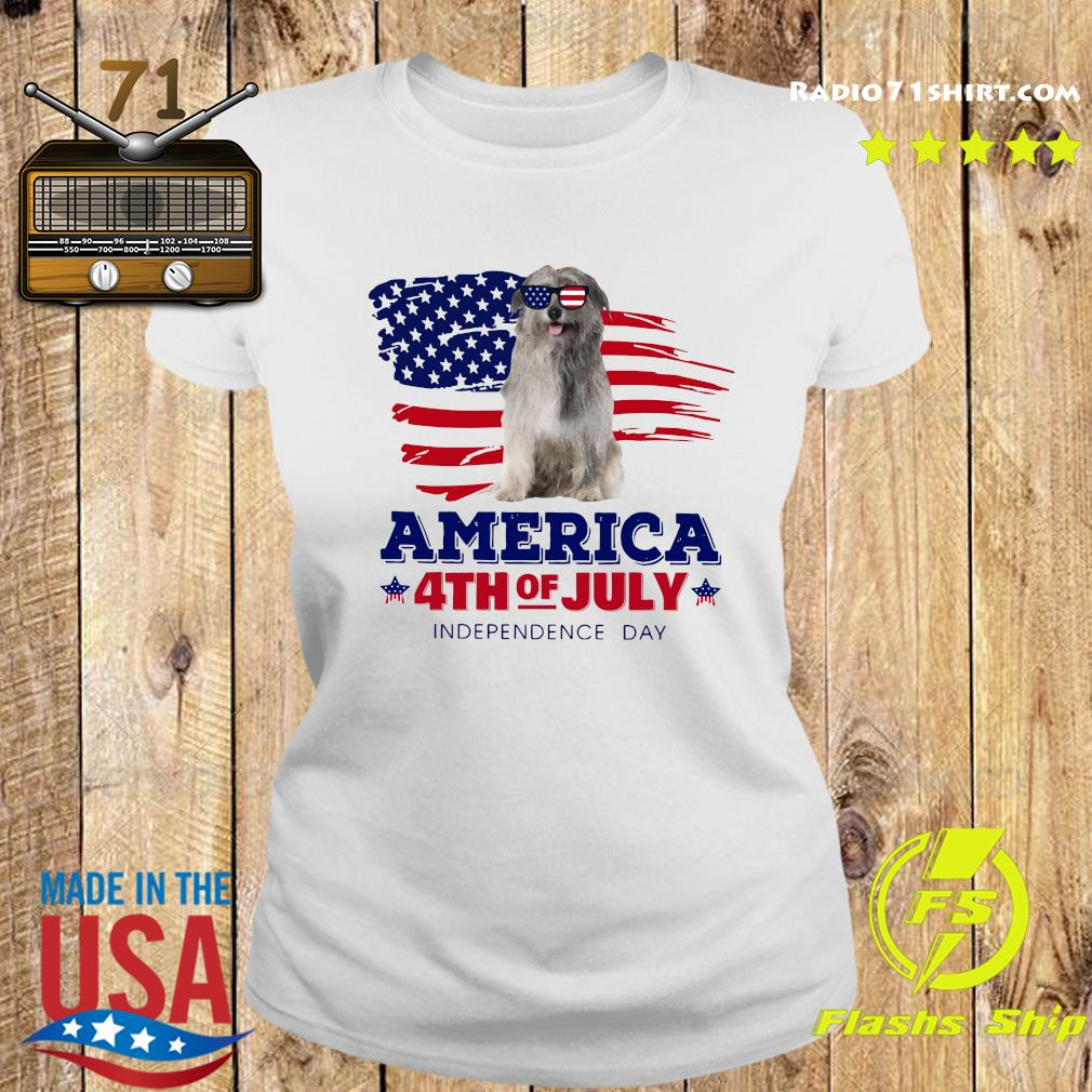 Pyrenean Shepherd America 4th Of July Independence Day Shirt Ladies tee
