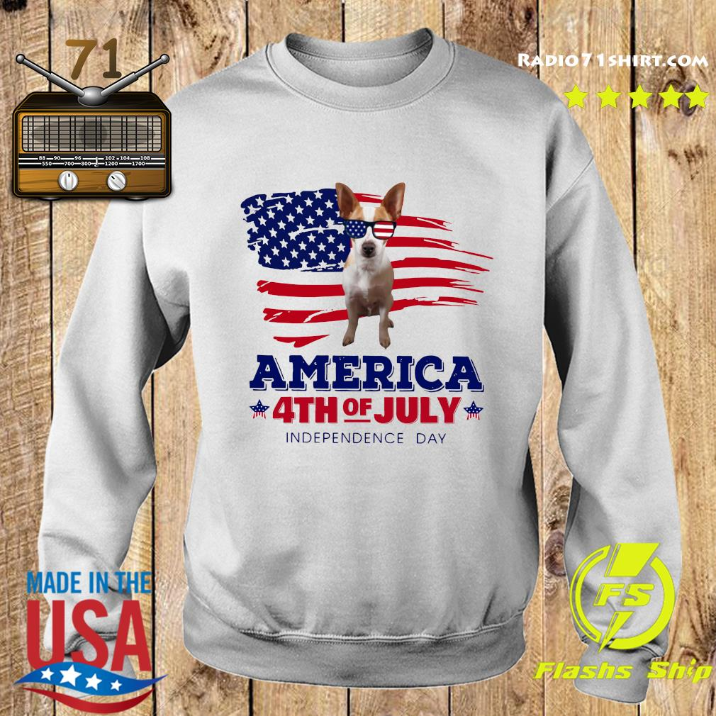Rat Terrier America 4th Of July Independence Day Shirt Sweater