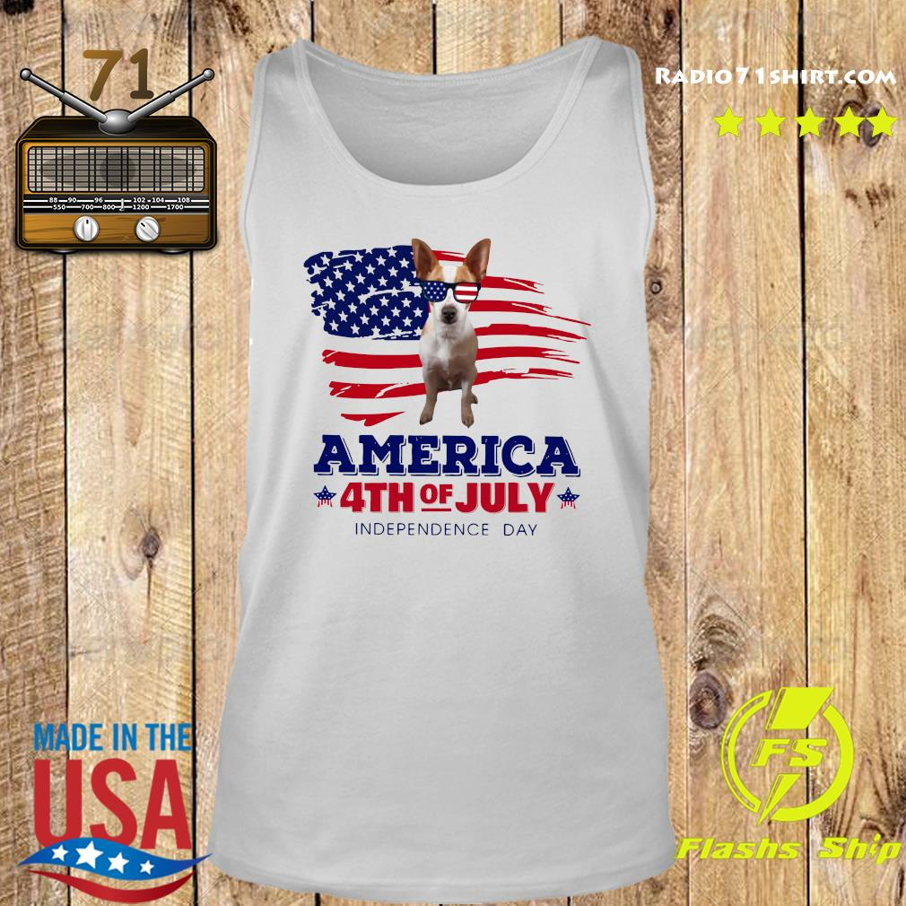 Rat Terrier America 4th Of July Independence Day Shirt Tank top