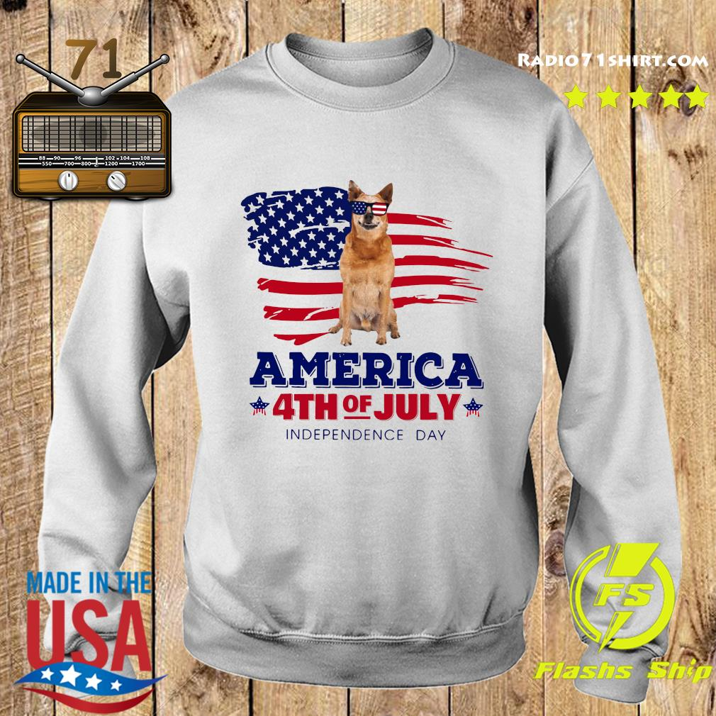 Red Heeler America 4th Of July Independence Day Shirt Sweater
