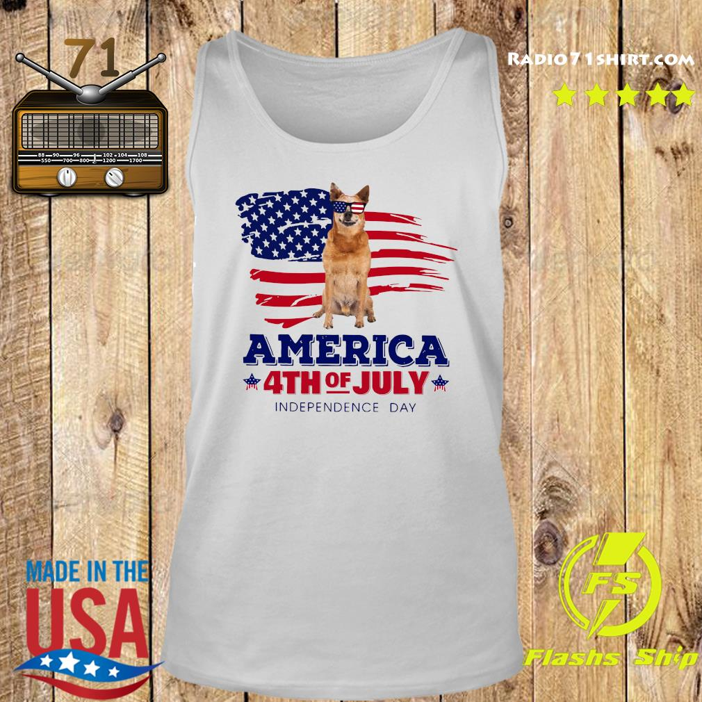Red Heeler America 4th Of July Independence Day Shirt Tank top