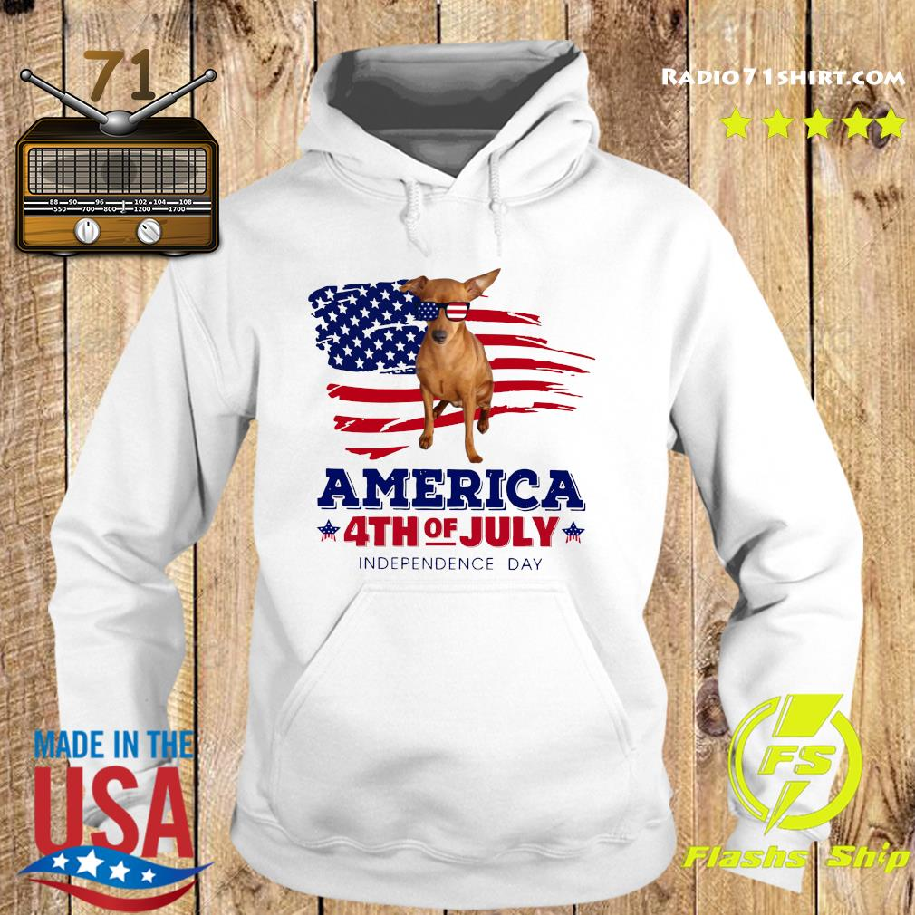 Red Miniature Pinscher America 4th Of July Independence Day Shirt Hoodie
