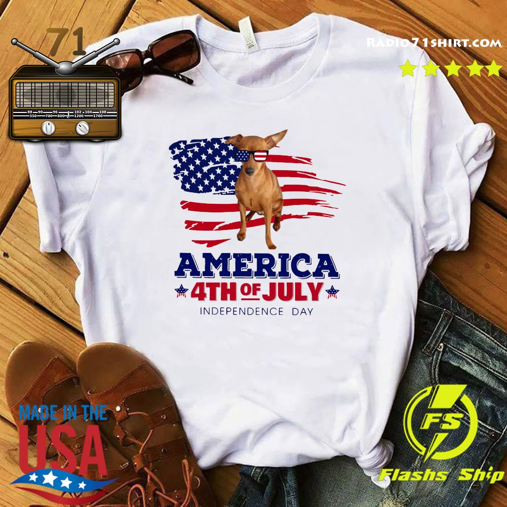 Red Miniature Pinscher America 4th Of July Independence Day Shirt