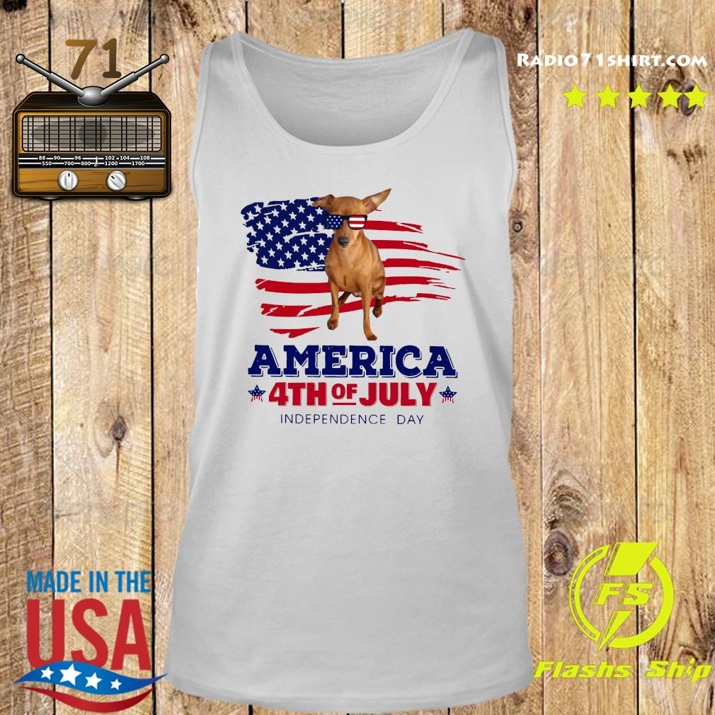 Red Miniature Pinscher America 4th Of July Independence Day Shirt Tank top