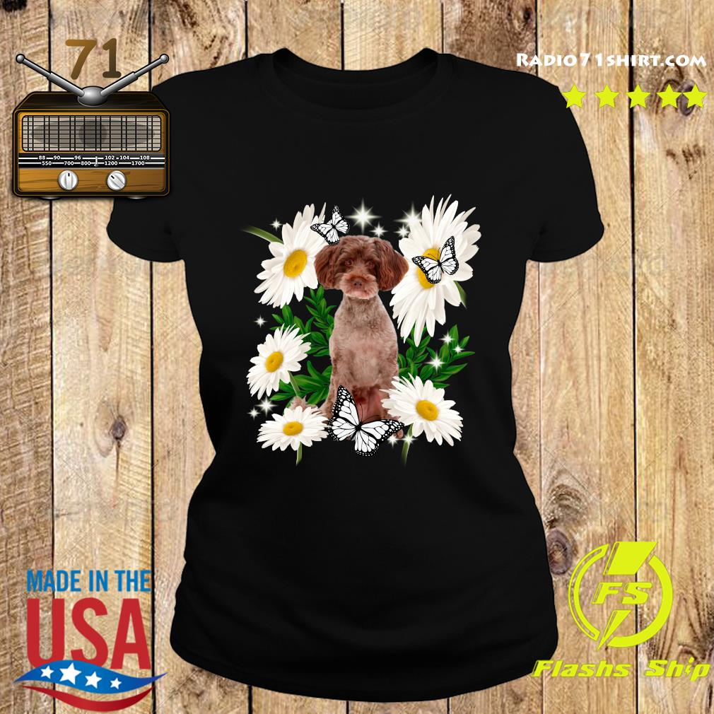 Schnoodle Dog Daisy flower Classic T-Shirt Ladies tee