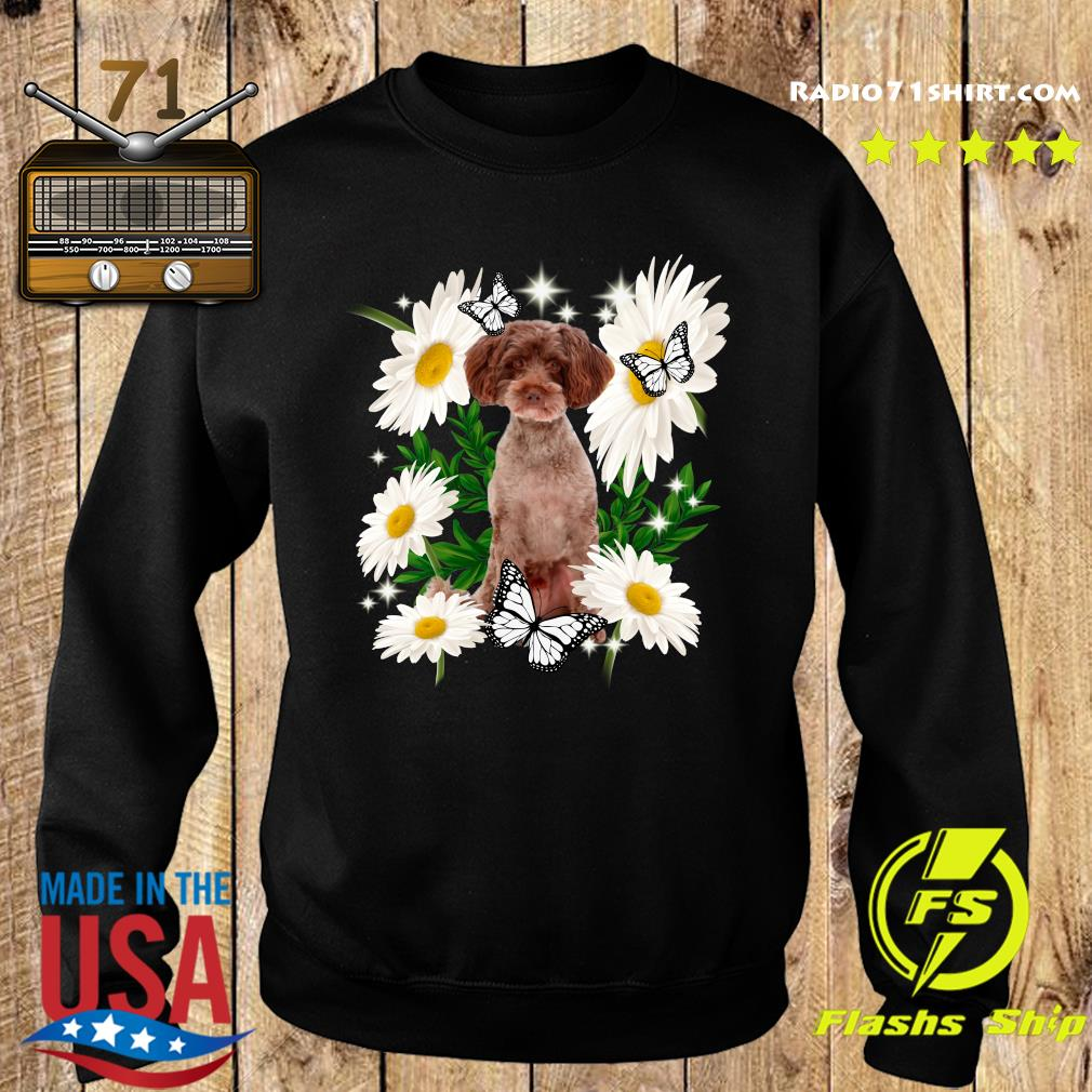Schnoodle Dog Daisy flower Classic T-Shirt Sweater