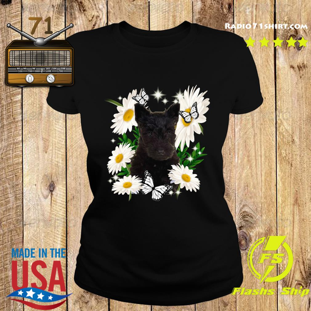 Scottish Terrier Daisy flower Classic T-Shirt Ladies tee
