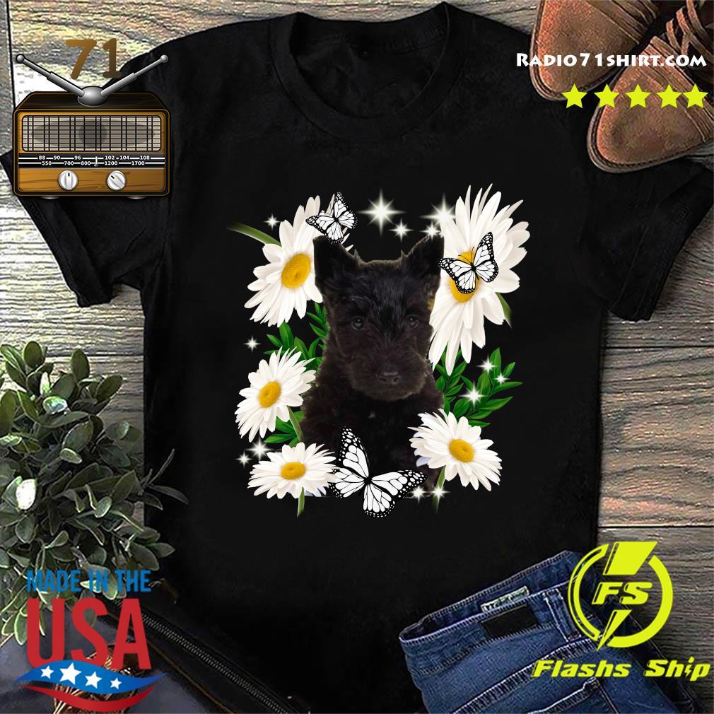 Scottish Terrier Daisy flower Classic T-Shirt
