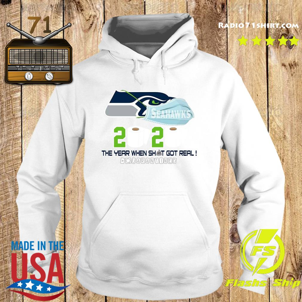 Seattle Seahawks Football 2020 Toilet Paper The Year When Shit Got Real Quarantined Shirt Hoodie
