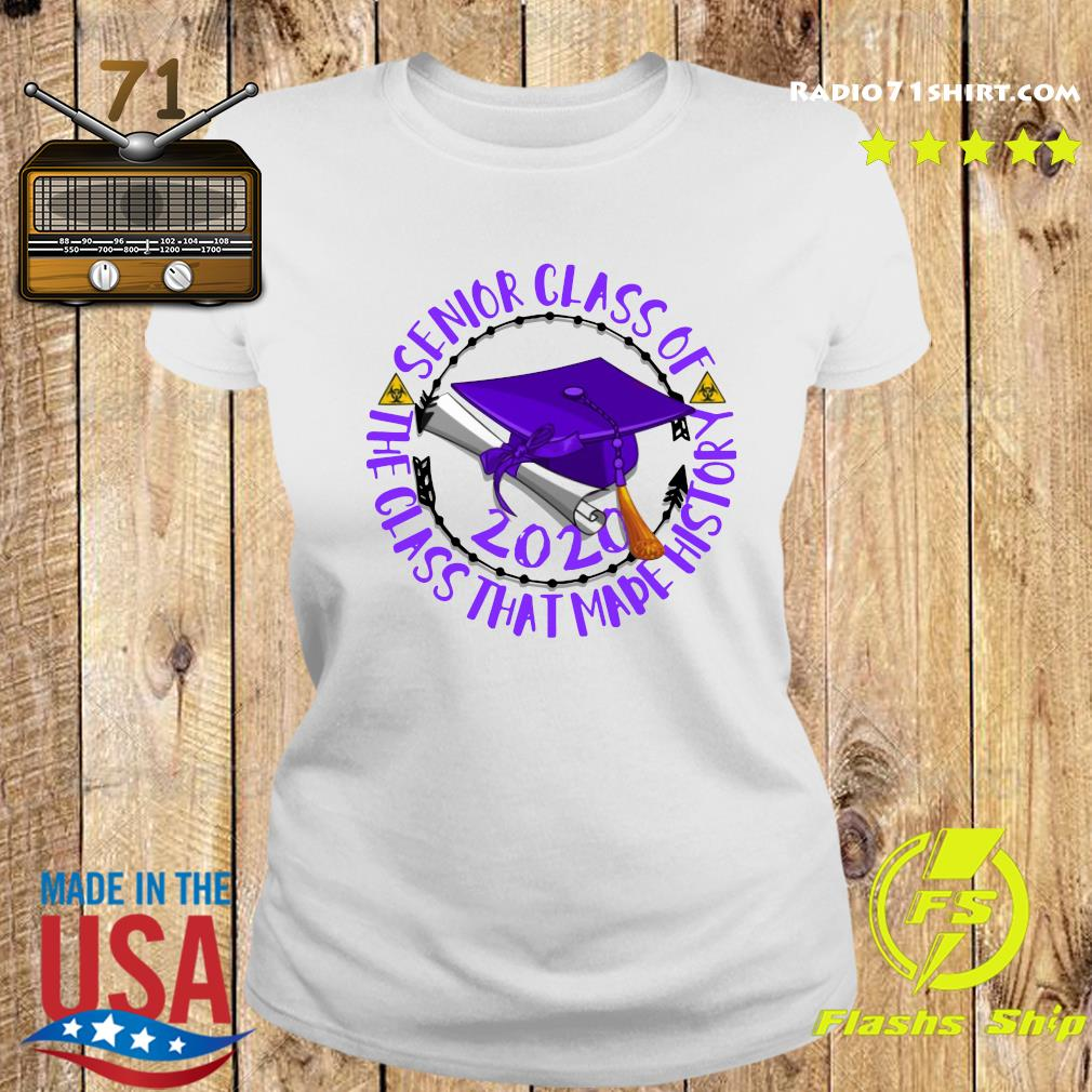 Senior Class of 2020 the class that made his story purple s Ladies tee