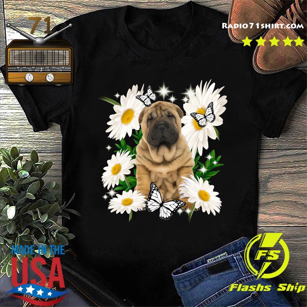 Shar Pei Daisy flower Classic T-Shirt