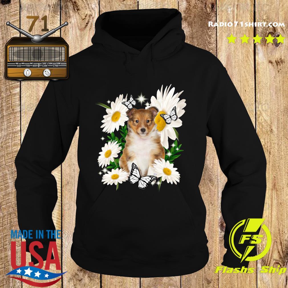 Shetland Sheepdog Daisy flower Classic T-Shirt Hoodie