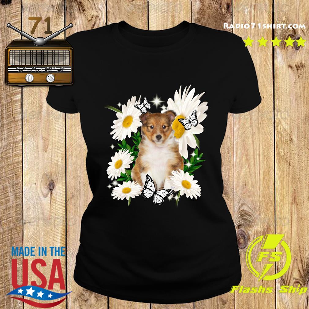 Shetland Sheepdog Daisy flower Classic T-Shirt Ladies tee