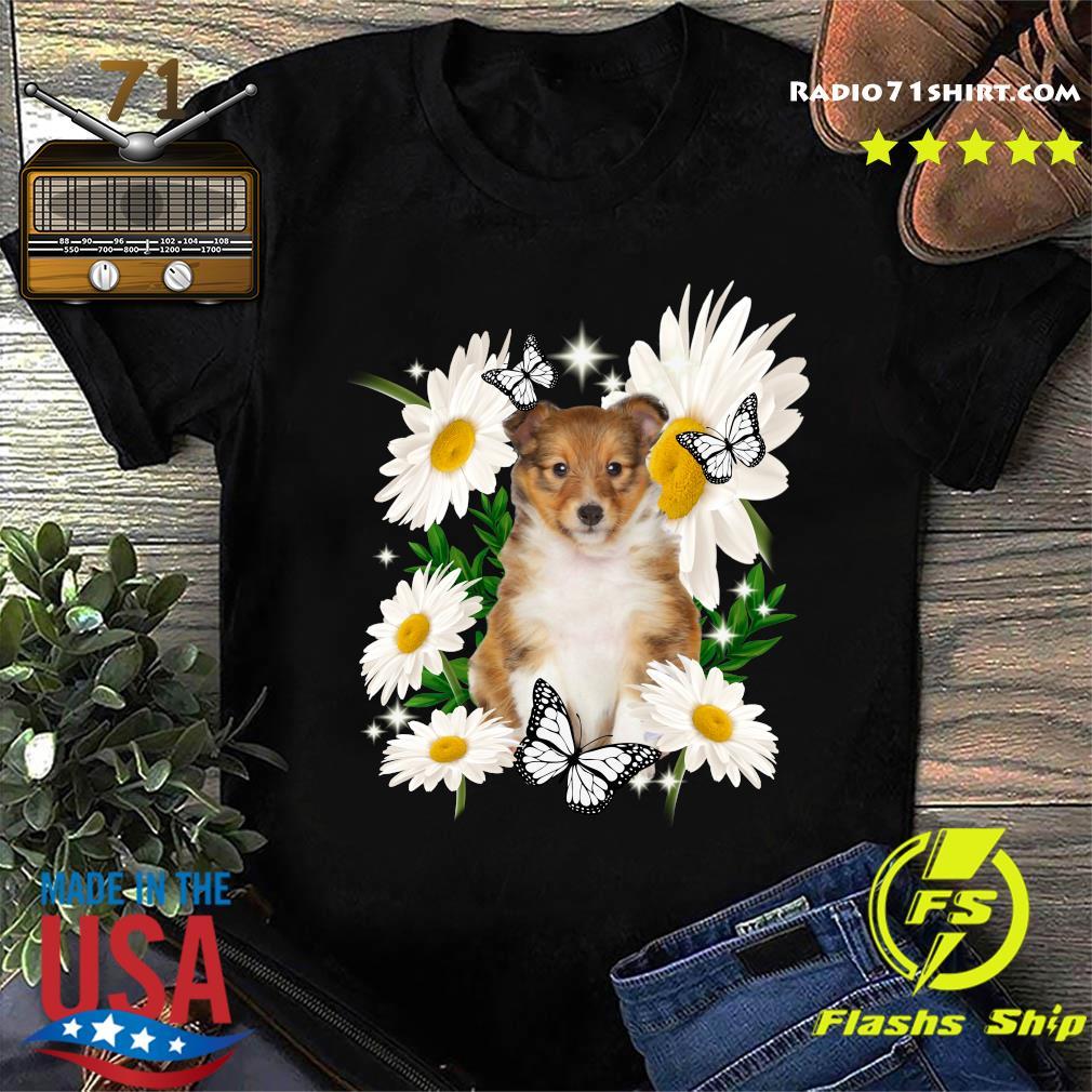 Shetland Sheepdog Daisy flower Classic T-Shirt