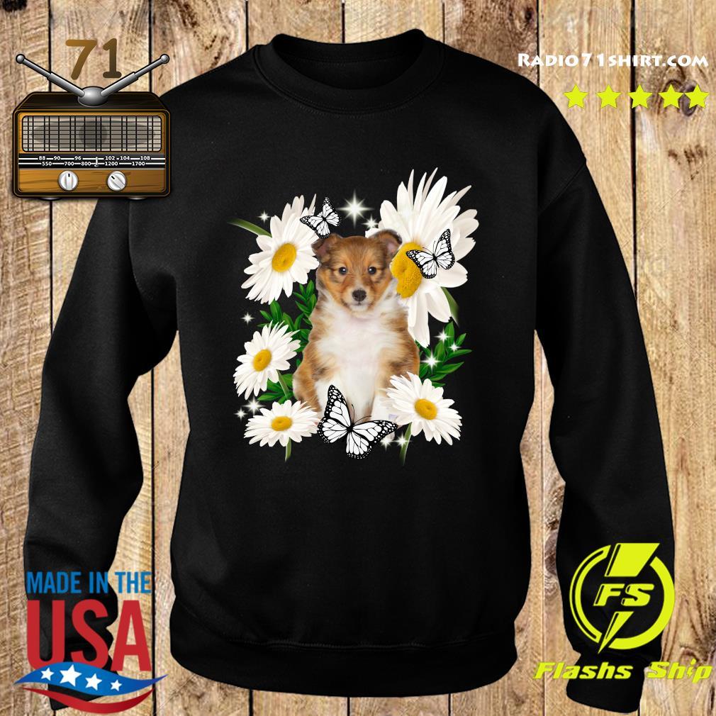 Shetland Sheepdog Daisy flower Classic T-Shirt Sweater