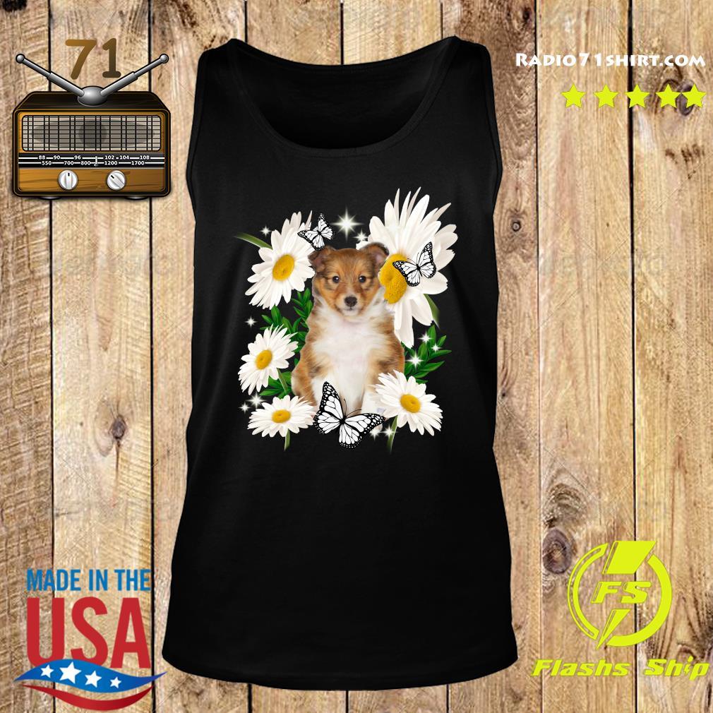 Shetland Sheepdog Daisy flower Classic T-Shirt Tank top