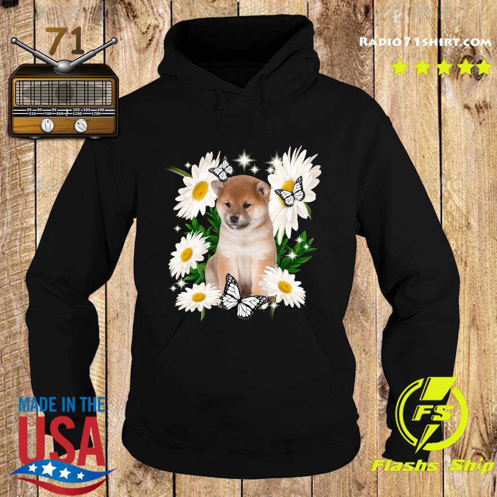 Shiba Inu Daisy flower Classic T-Shirt Hoodie