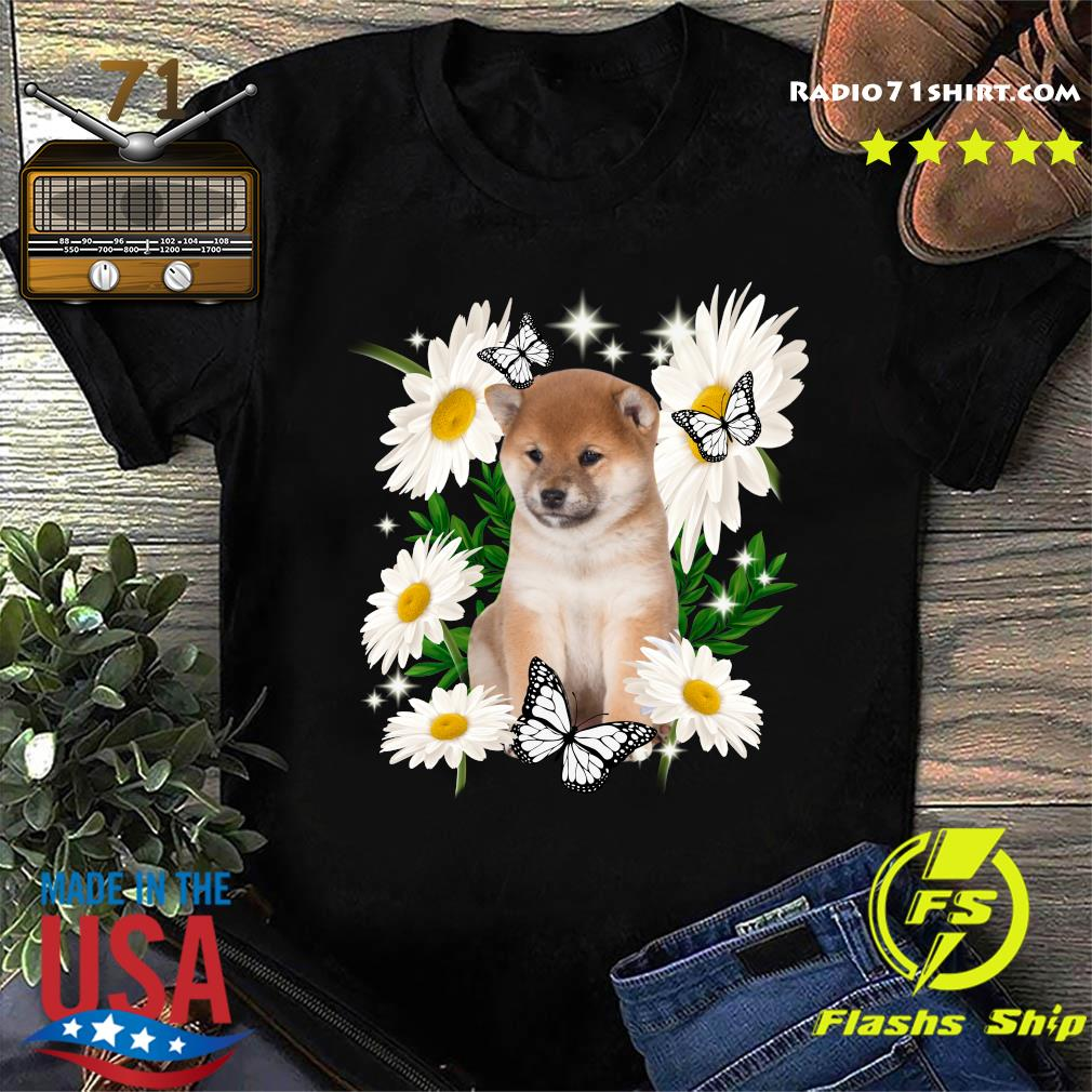 Shiba Inu Daisy flower Classic T-Shirt
