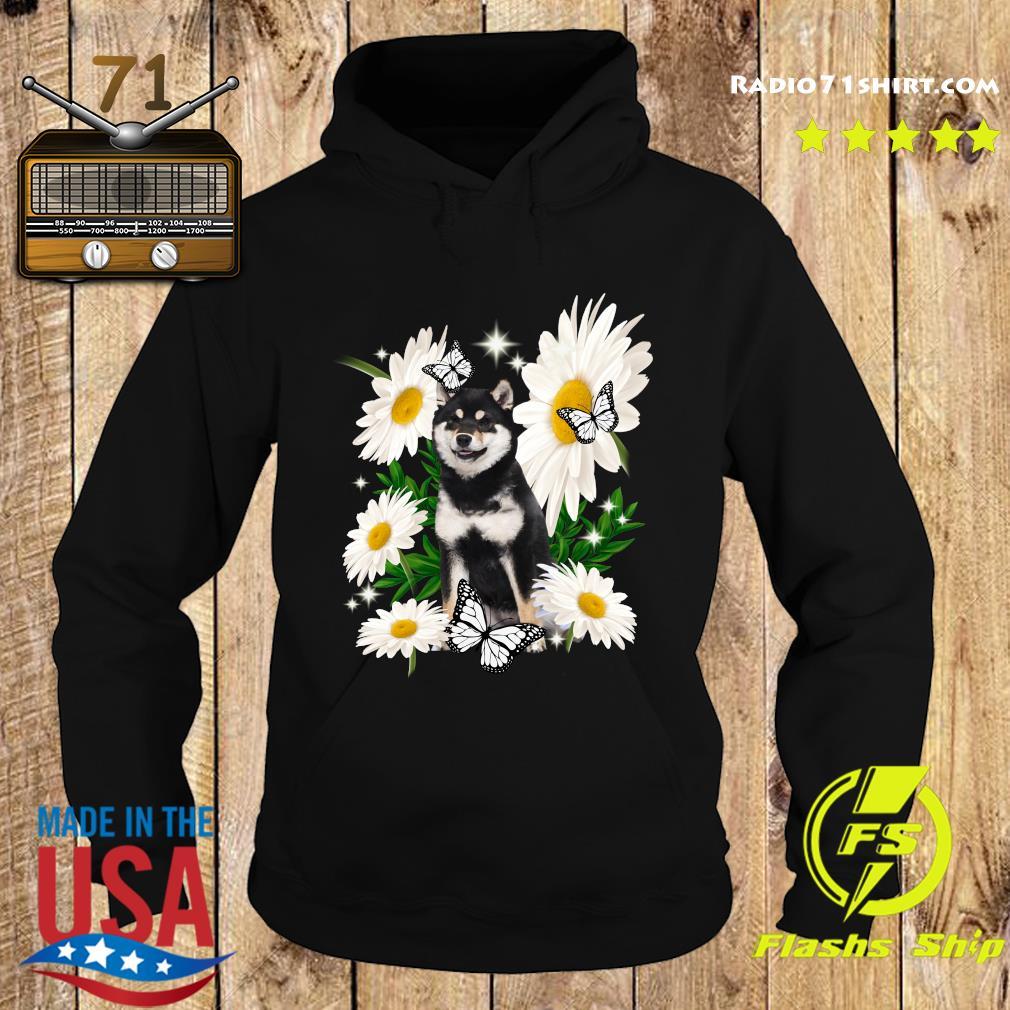 Shiba Inu Dog Daisy flower Classic T-Shirt Hoodie