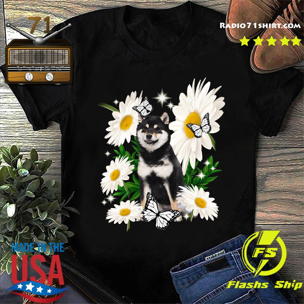 Shiba Inu Dog Daisy flower Classic T-Shirt
