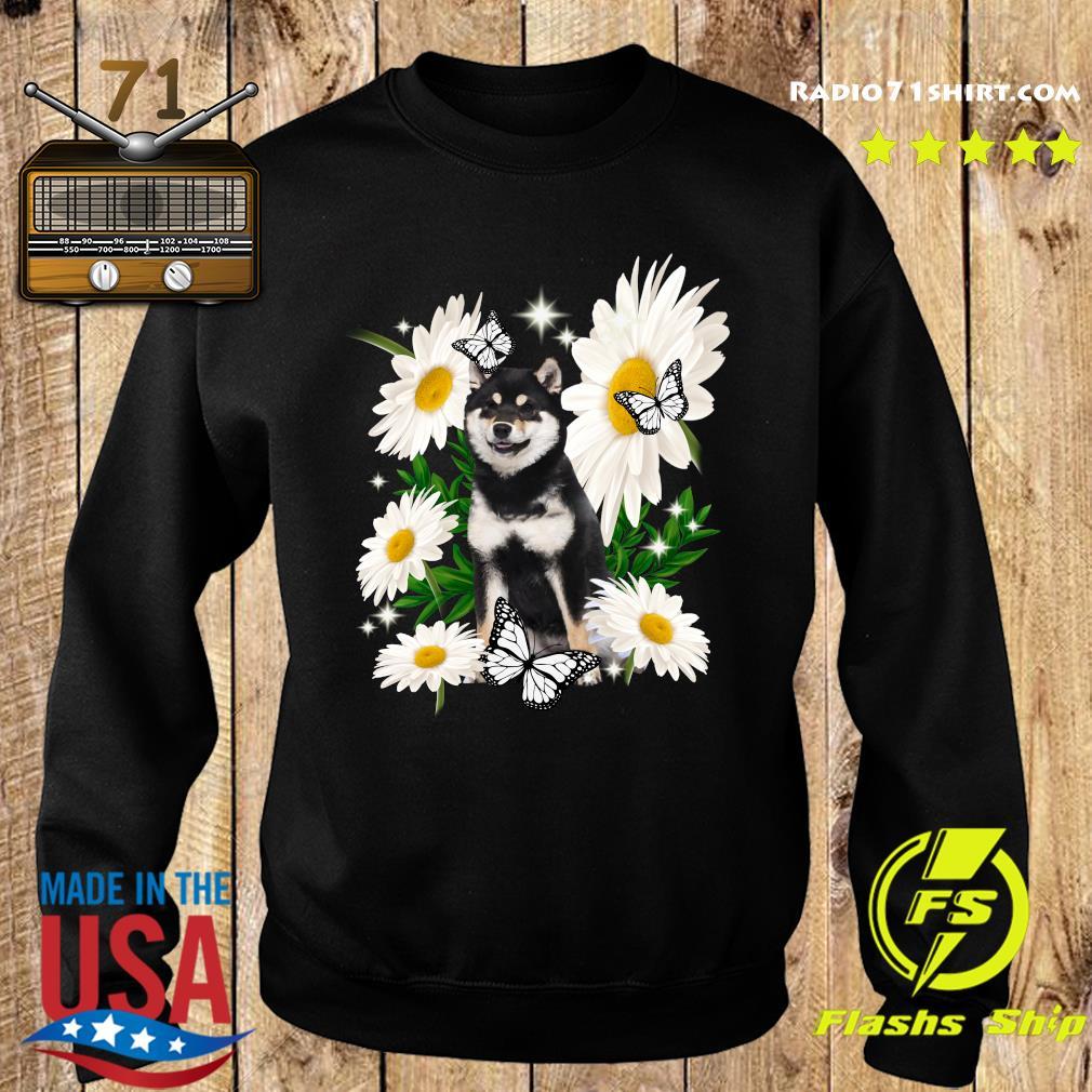 Shiba Inu Dog Daisy flower Classic T-Shirt Sweater