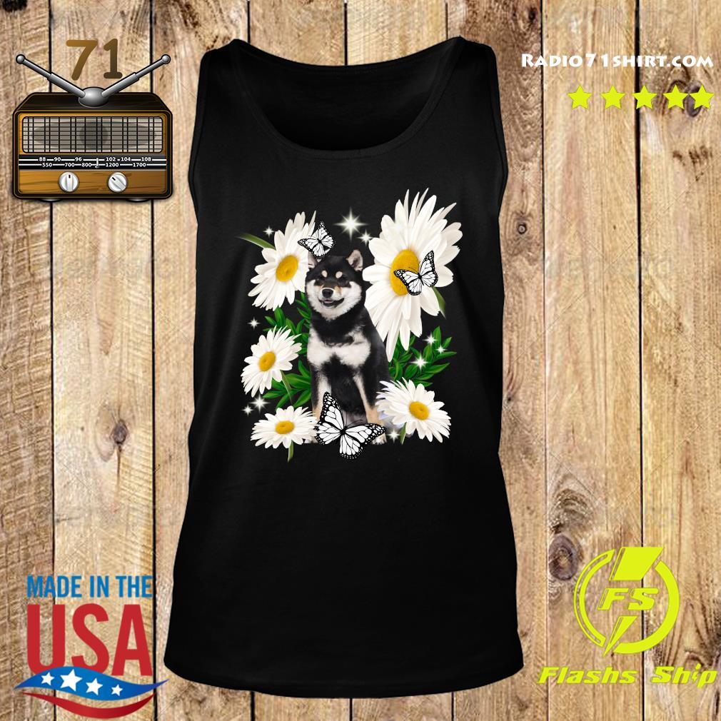 Shiba Inu Dog Daisy flower Classic T-Shirt Tank top