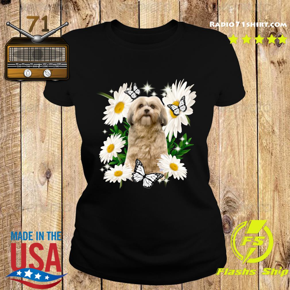 Shih Tzu Dog Daisy flower Classic Shirt Ladies tee