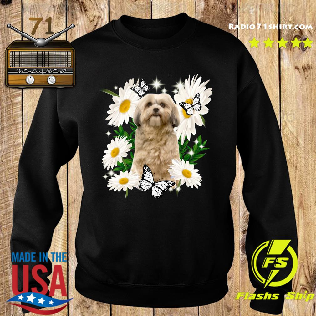 Shih Tzu Dog Daisy flower Classic Shirt Sweater