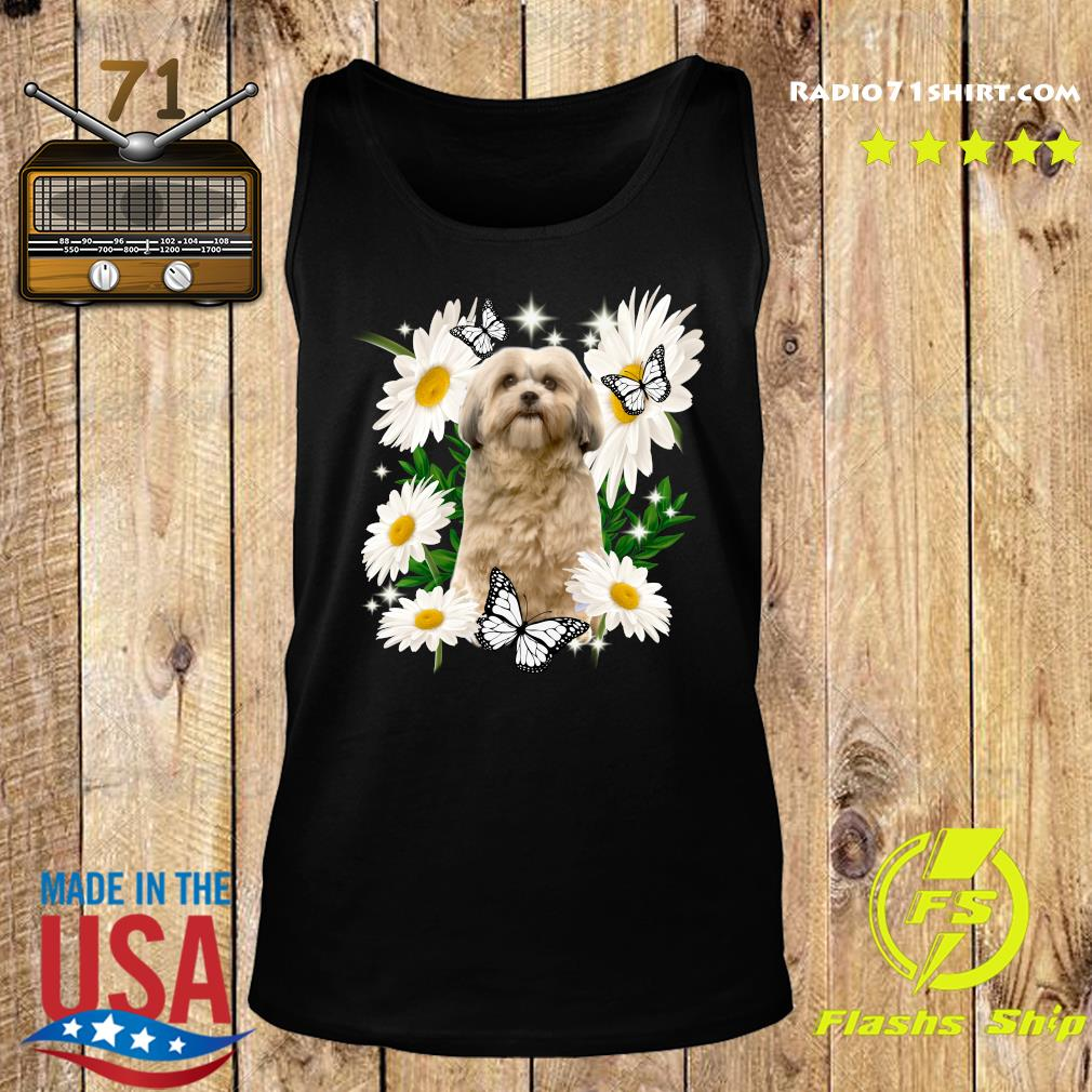 Shih Tzu Dog Daisy flower Classic Shirt Tank top