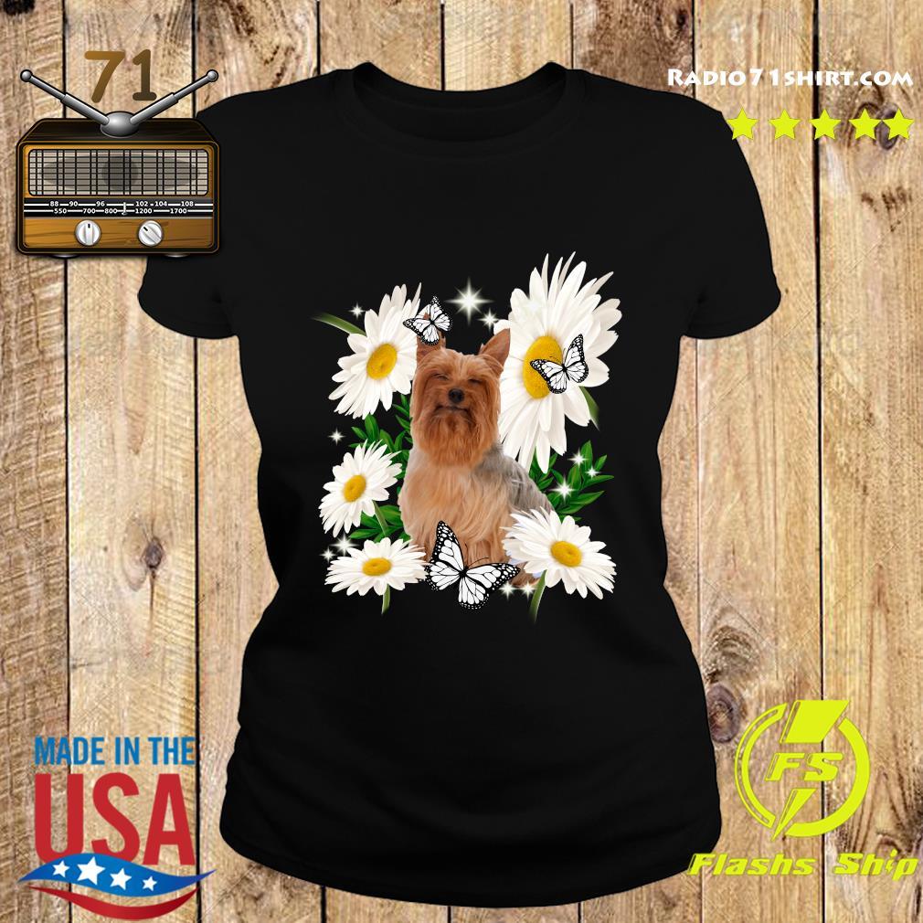 Silky Terrier Daisy flower Classic T-Shirt Ladies tee
